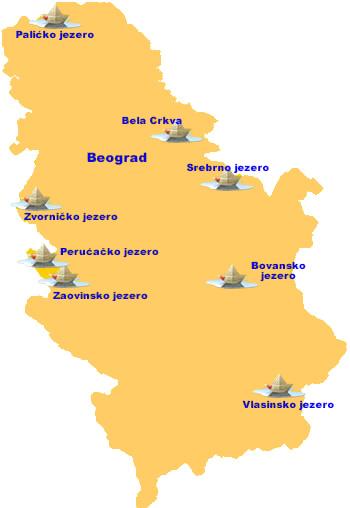 mapa srbije jezera Jezera mapa srbije jezera