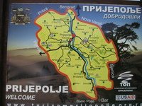 South-western Serbia - travel map
