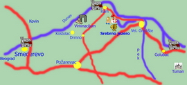 East Serbia - tourist map