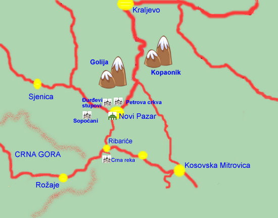 Novi Pazar - travel map