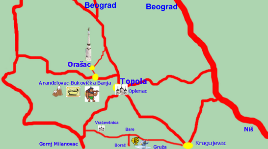 Sumadija - travel map